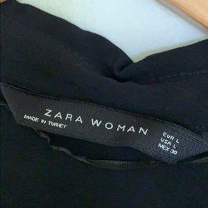 Women's black dress shirt